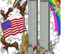 """Charles Fazzino's 2001 work """"United We Stand."""""""