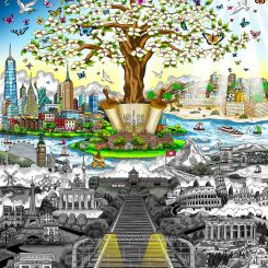 Hope and the tree of life growing out of the horrors of the Holocaust
