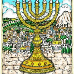 Charles Fazzino's image A Light for Israel