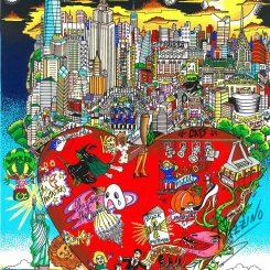 Fazzino Limited Edition Artwork Broadway's Big Apple Night