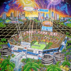 Super Bowl XLI in Miami between the Indianapolis Colts and Chicago Bears