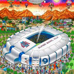 Super Bowl XLII in Pheonix between the New York Giants and New England Patriots