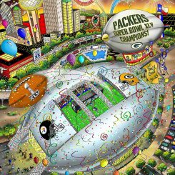 Super Bowl XLV in Dallas between the Green Bay Packers and Pittsburgh Steelers