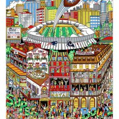 Super Bowl XXXVI in New Orleans between the New England Patriots and LA Rams