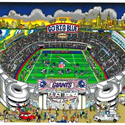 NFL artwork about the New York Giants and Giants Stadium